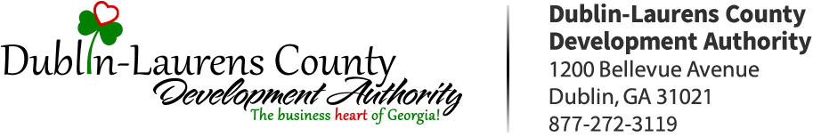 Dublin-Laurens County Development Authority. 1200 Bellevue Avenue. Dublin, GA 31021. 877-272-3119